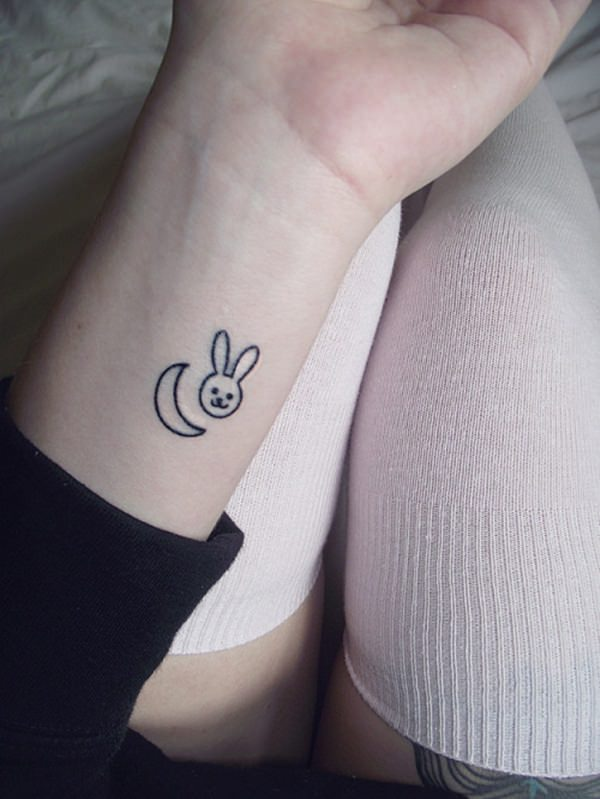 cute tattoo tattoos designs pretty bunny moon inspiring
