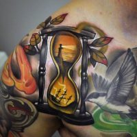 hourglass-tattoos