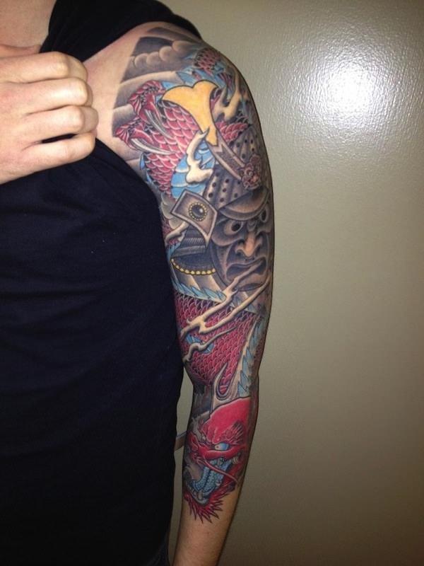 83 alluring half and full sleeve tattoos for Upper arm half sleeve tattoos