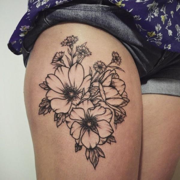 101 beautiful floral tattoos designs that will blow your mind rh inkme tattoo Pink Dogwood Tree Tattoo Dogwood Tattoo Meaning