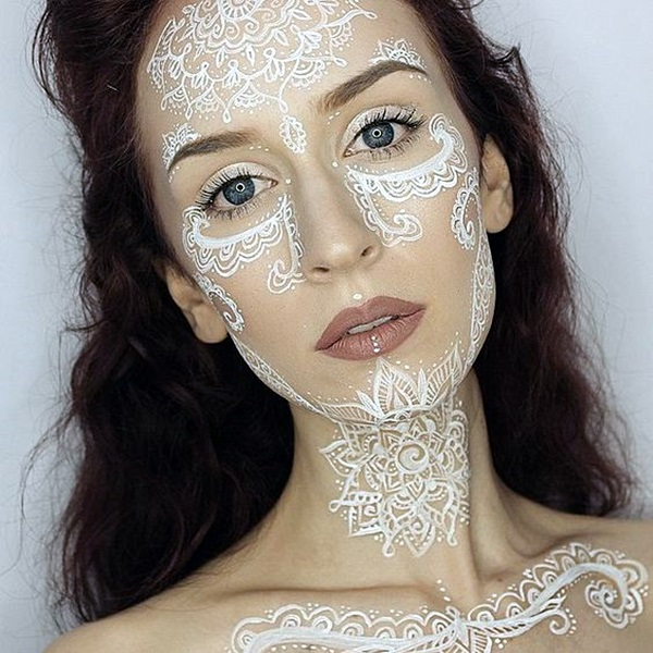 25 best places to get tattoos on your body for Face tattoo makeup