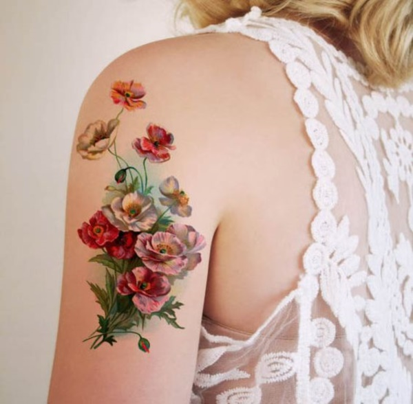 23 Beautiful Flower Tattoo Ideas For Women: 101 Beautiful Floral Tattoos Designs That Will Blow Your Mind