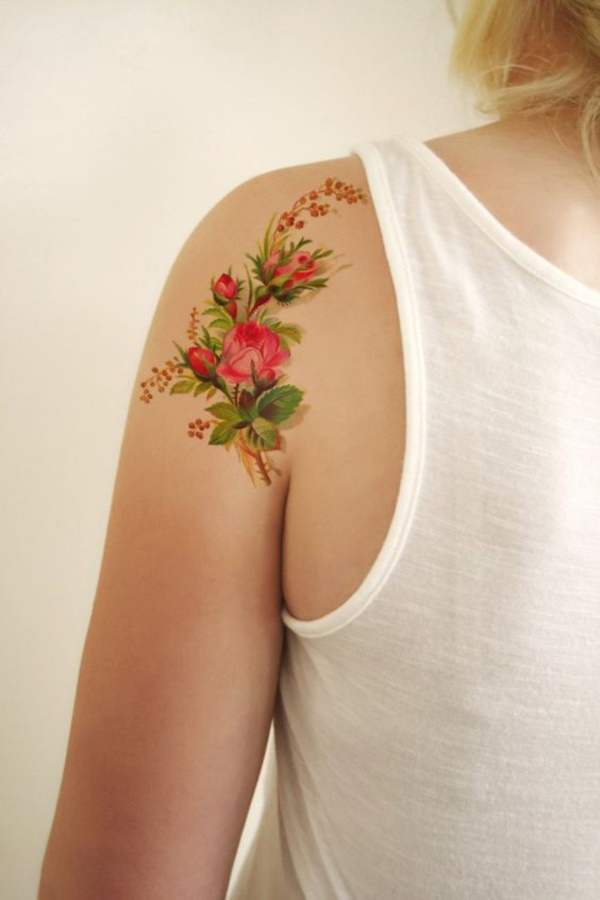 Floral Tattoos Designs that'll blow your Mind0281