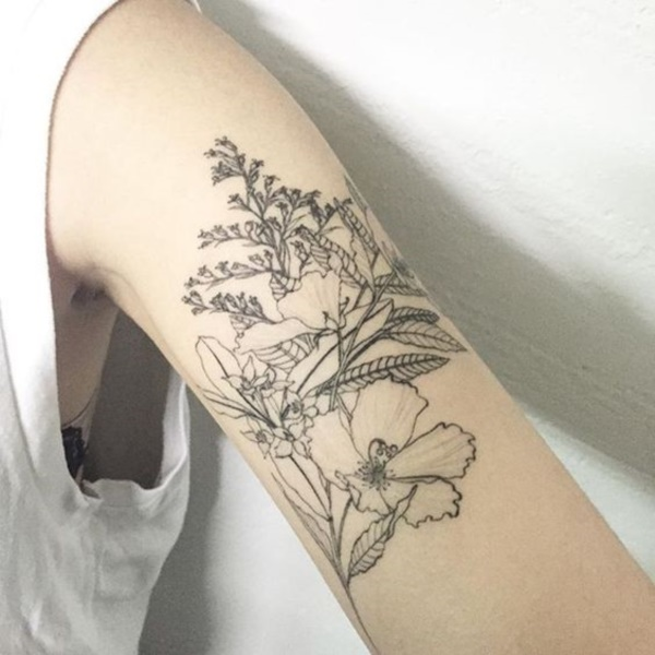 Floral Tattoos Designs that'll blow your Mind0291