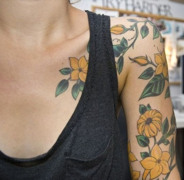 Floral Tattoos Designs that'll blow your Mind0371
