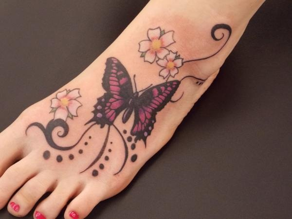 6d33cd1d6bd26 101 Cute Butterfly Tattoo Designs to get that Charm