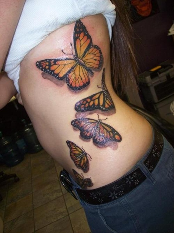 4b14031fb9 101 Cute Butterfly Tattoo Designs to get that Charm