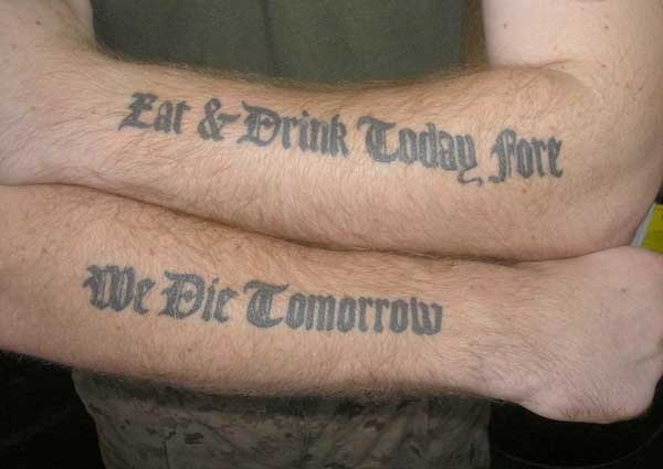 Quote tattoo designs for boys and girls65