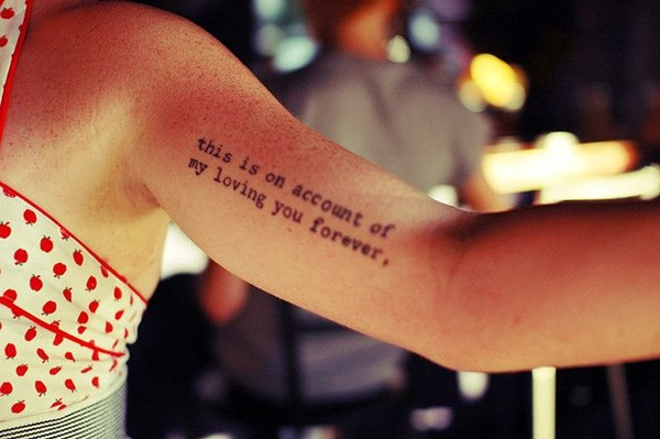 Quote tattoo designs for boys and girls68