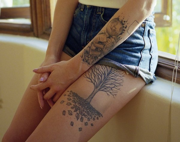 Thigh tattoo designs for girls18