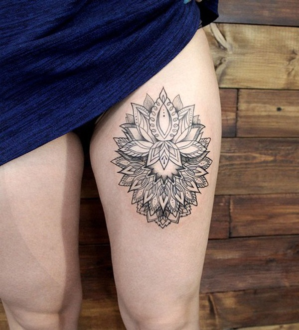 Thigh tattoo designs for girls21
