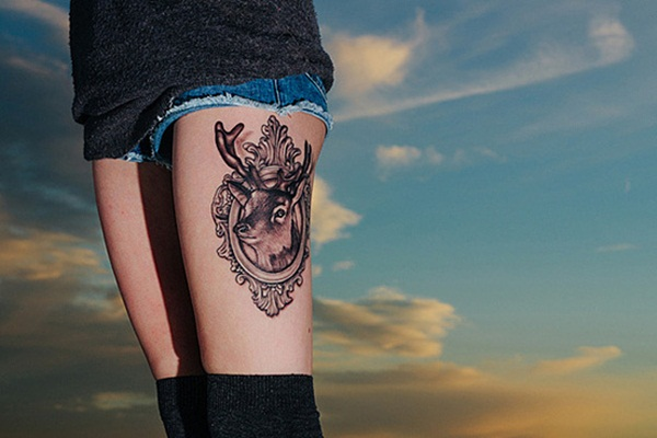 Thigh tattoo designs for girls22