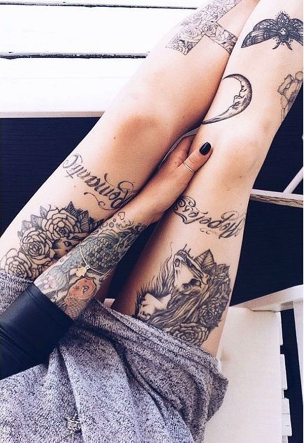 Thigh tattoo designs for girls33