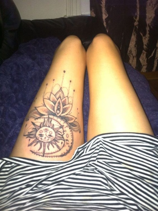 Thigh tattoo designs for girls38