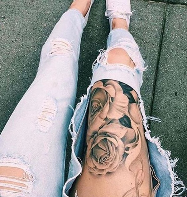 Thigh tattoo designs for girls41