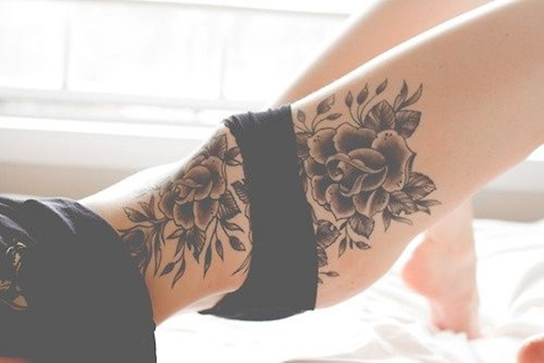 Thigh tattoo designs for girls49