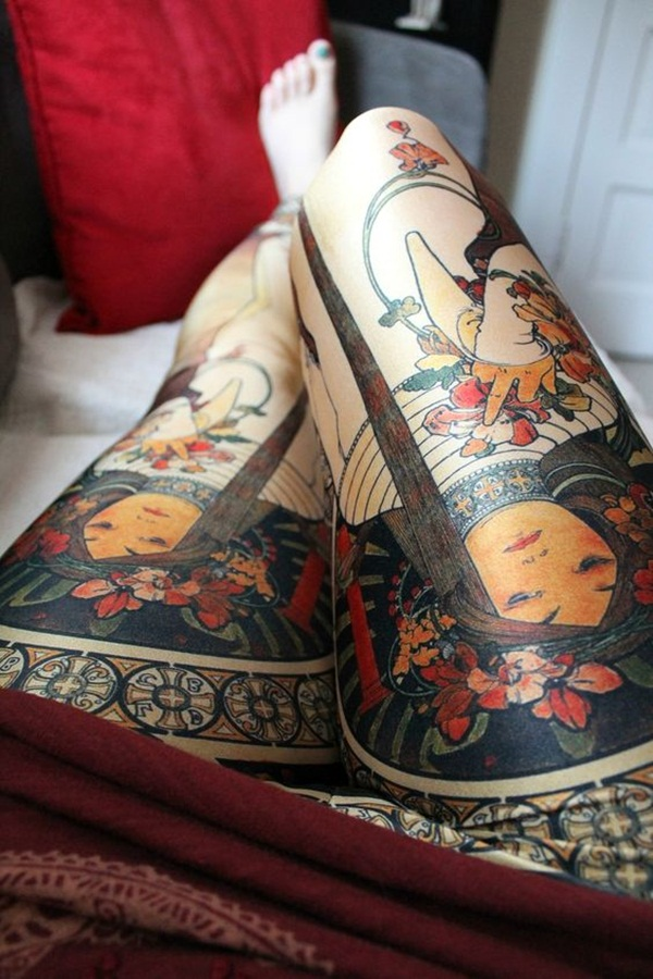 Thigh tattoo designs for girls53