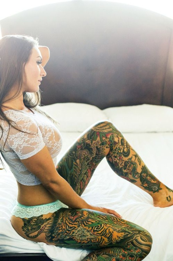 Thigh tattoo designs for girls70