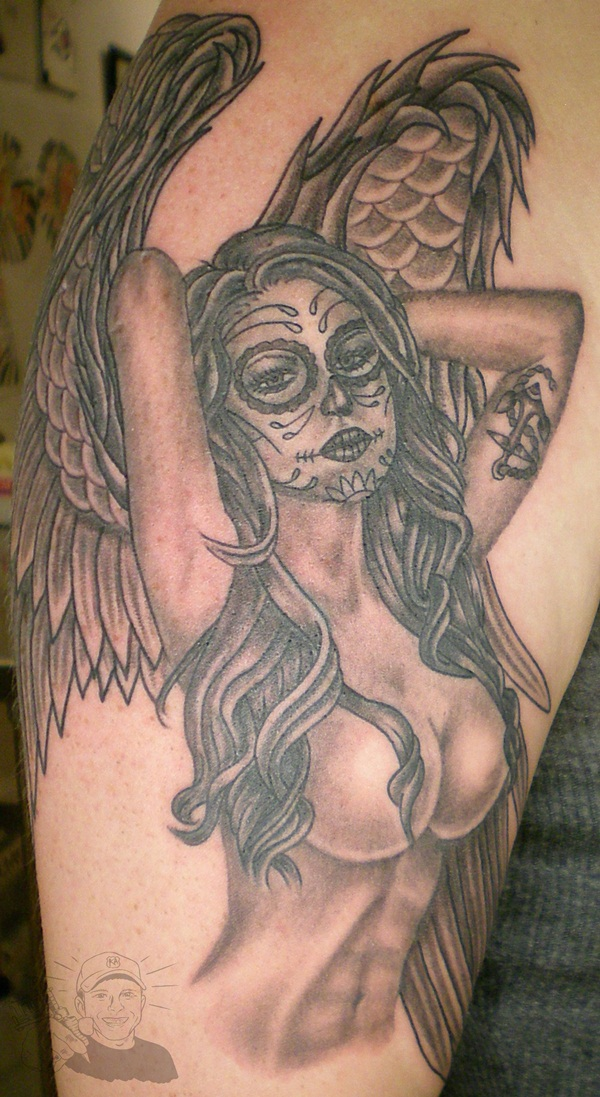 Angel tattoo designs and ideas30