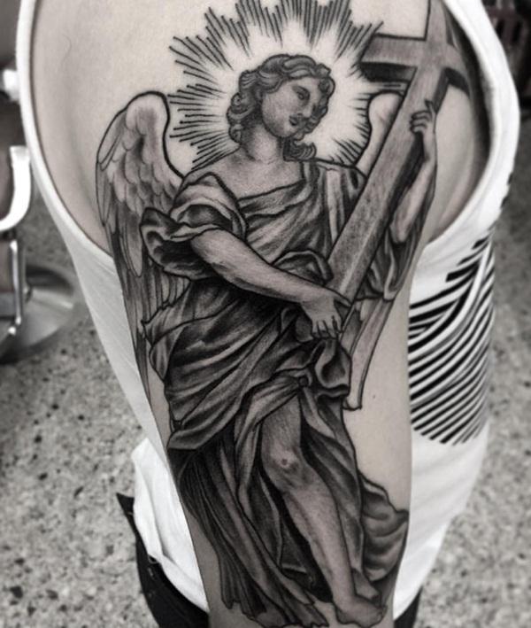 Angel tattoo designs and ideas32