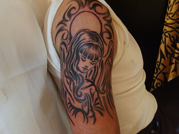 Angel tattoo designs and ideas33