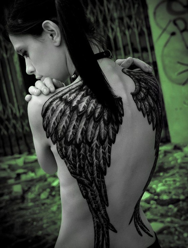 Angel tattoo designs and ideas34