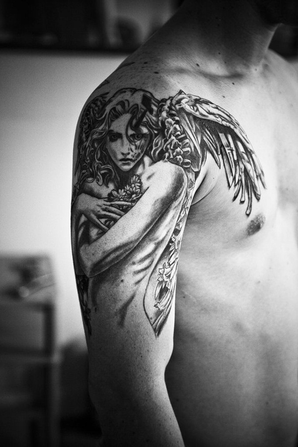 Angel tattoo designs and ideas35