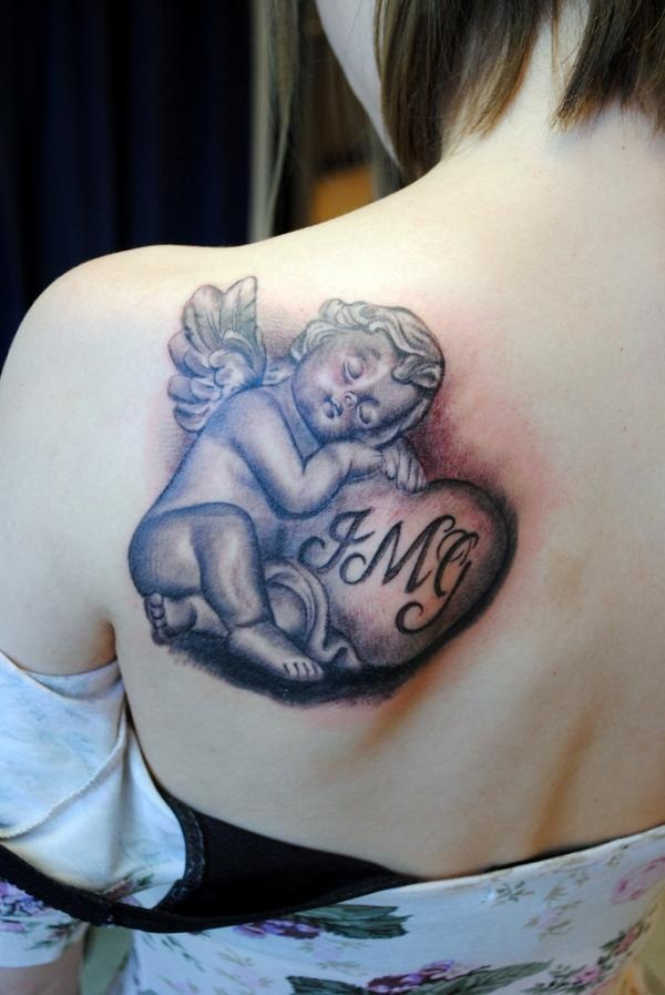Angel tattoo designs and ideas50