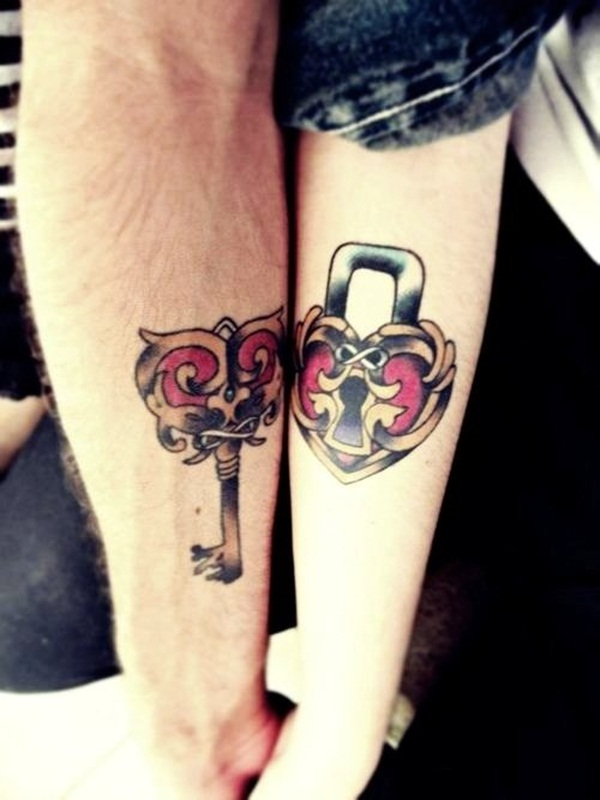 5449b70eb308f 175 of the Best Couple Tattoo Designs that will keep your Love forever