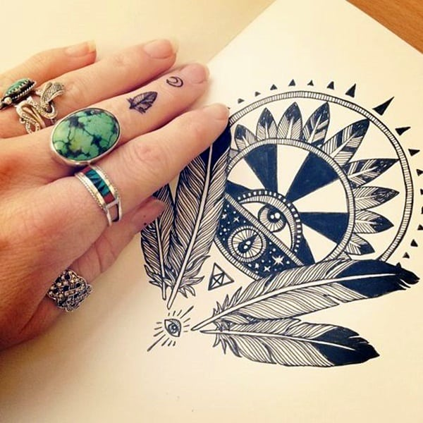 Cute Finger Tattoos Designs (38)