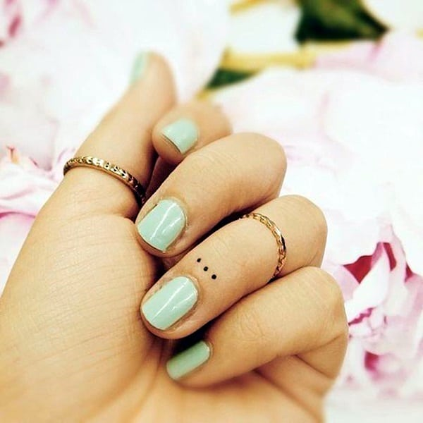 101 cute finger tattoos designs your mom will also allow for Tattoo dots on fingers meaning