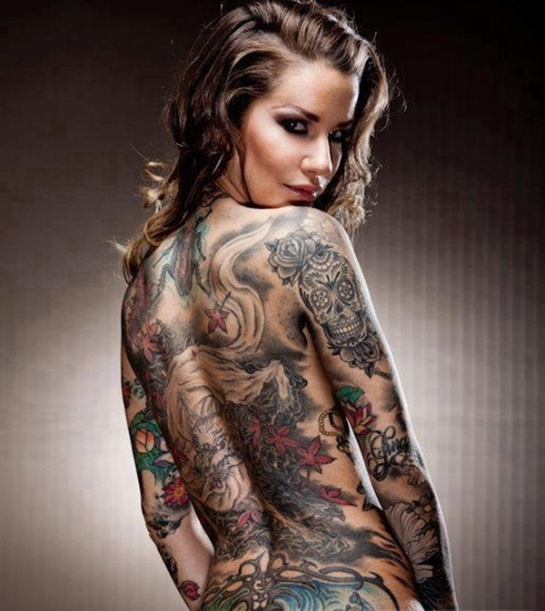 101 cool full body tattoo design for men and women for Nude women tattoo