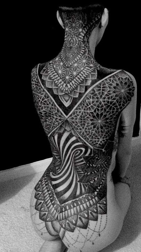 full body tattoo nude women