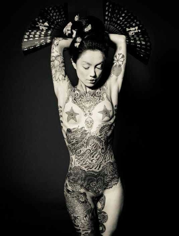 Women full body tattoos nude you have