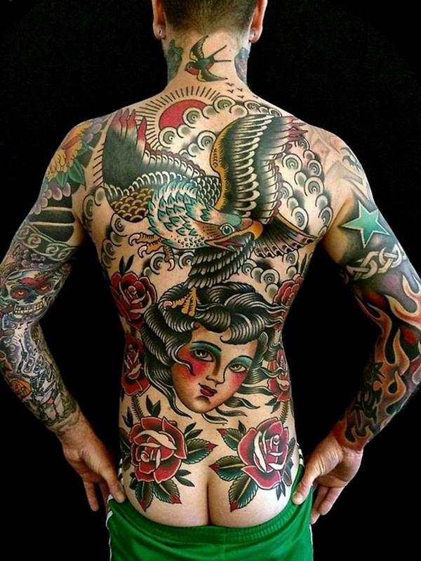 101 cool full body tattoo design for men and women for Peck tattoos for guys