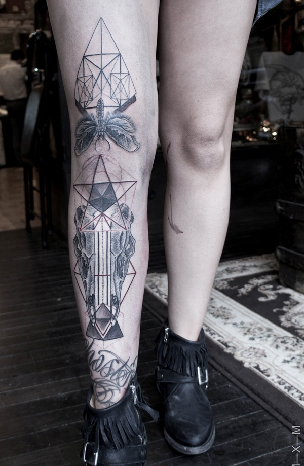 Geometric tattoo designs and ideas48