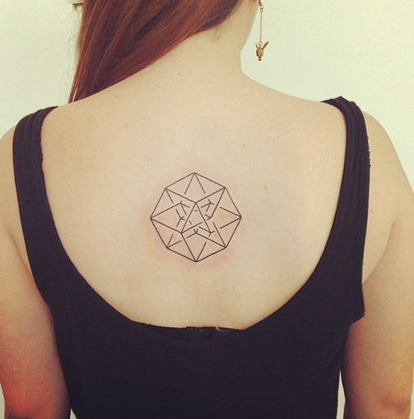 Geometric tattoo designs and ideas50