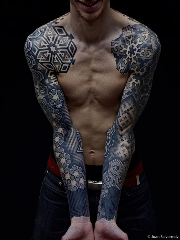 Geometric tattoo designs and ideas66