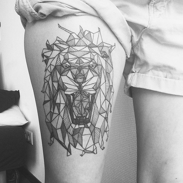 Line Drawing Animal Tattoos : Latest geometric tattoo designs and ideas
