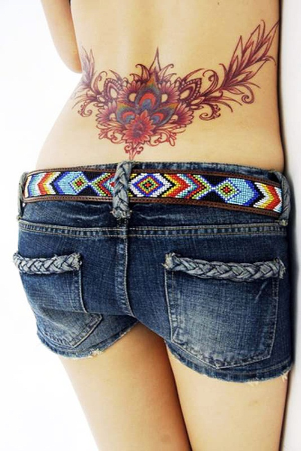 Lower back tattoo designs for women56