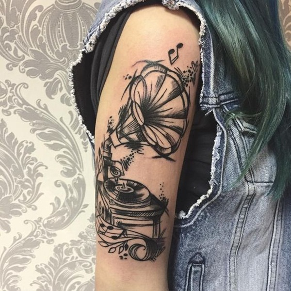 Music tattoo designs 13