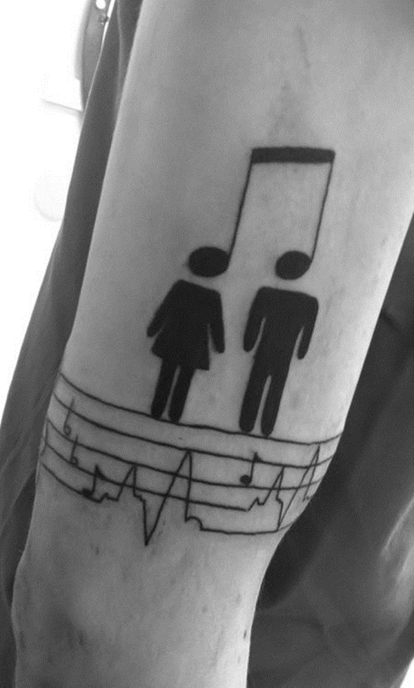Music tattoo designs 40