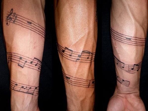Music tattoo designs 44
