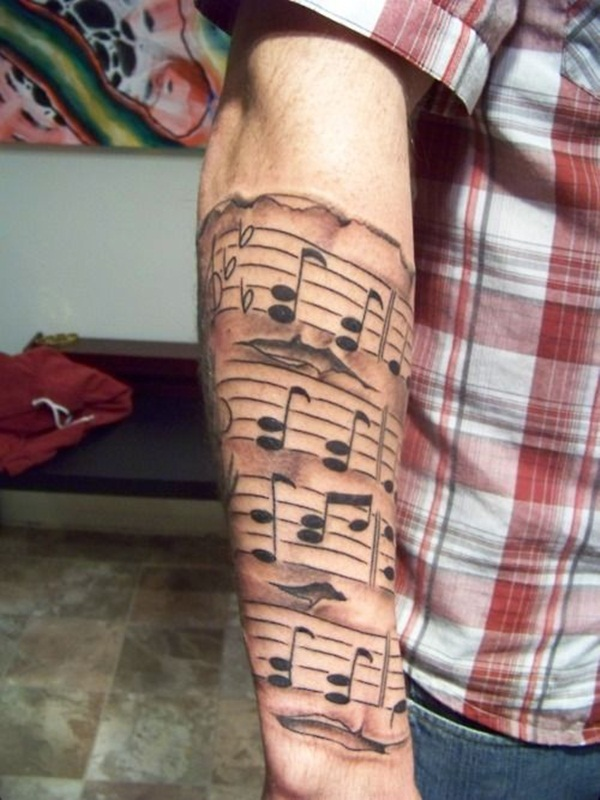 Music tattoo designs 45