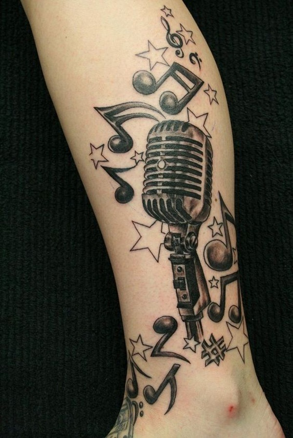 Music tattoo designs 48