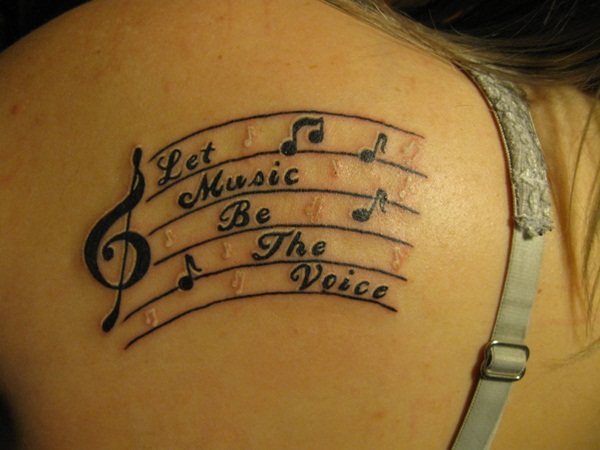 Music tattoo designs 7