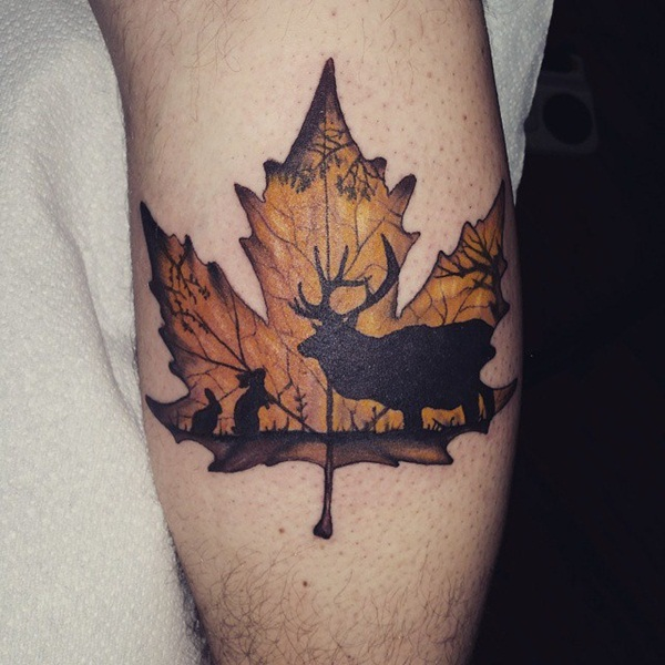 101 inspiring nature inspired tattoo designs for nature lover for Square city tattoo