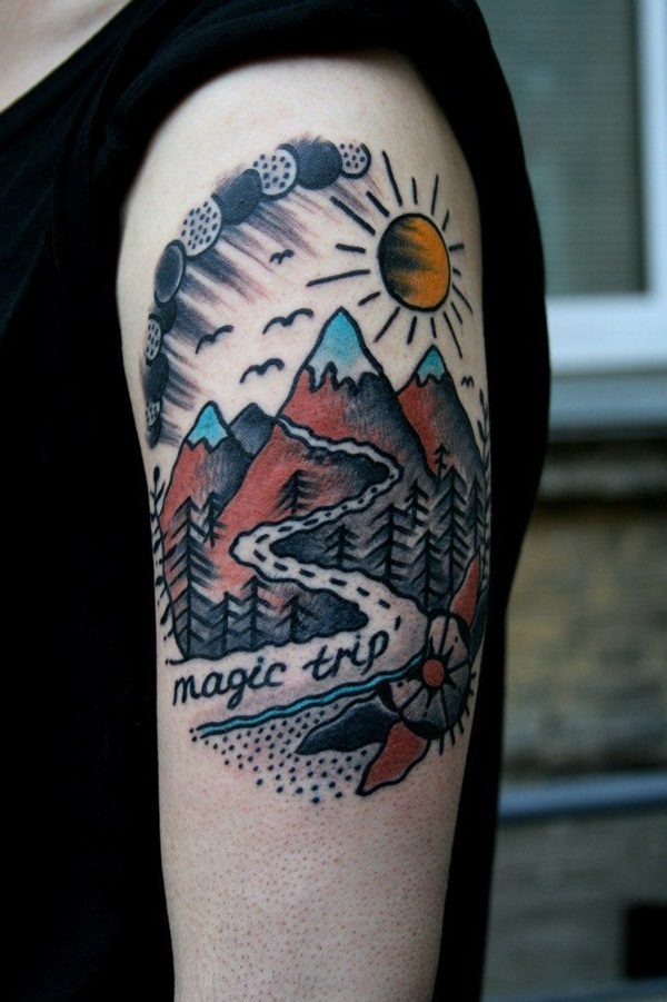 Image of: Stag Nature Inspired Tattoo Designs37 Designwrld 101 Inspiring Nature Inspired Tattoo Designs For Nature Lover