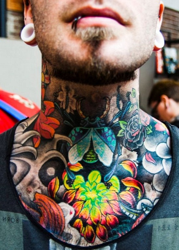 Neck Tattoo Designs and ideas31