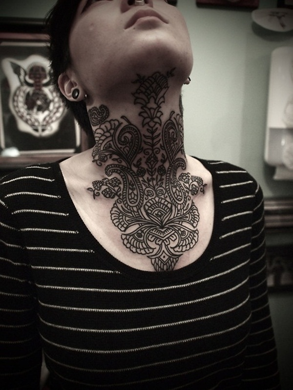 Neck Tattoo Designs and ideas39